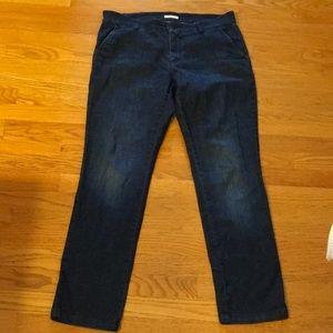 Eileen Fisher Trouser Style Dark Wash Jeans 12